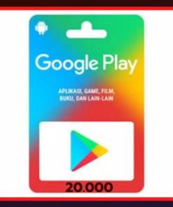 Voucher Google Play Gift-Idr 20.000-Cepat Murah Legal
