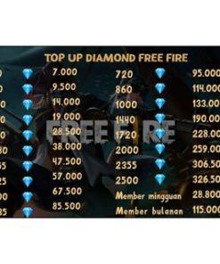 DIAMOND FREE FIRE MURAH FF TOPUP LEGAL PROMO