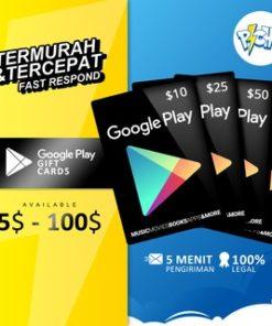 [Legal & Resmi]  Google Play Gift Card GPC US USD 10$ - 100$ VIA LOGIN