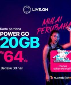 Kartu Perdana Live.On XL Power Go 20GB (30 hari) + Sticker C