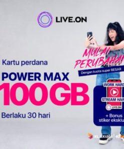 Kartu Perdana Live.On XL Power Max 100GB 30 hari & Sticker J